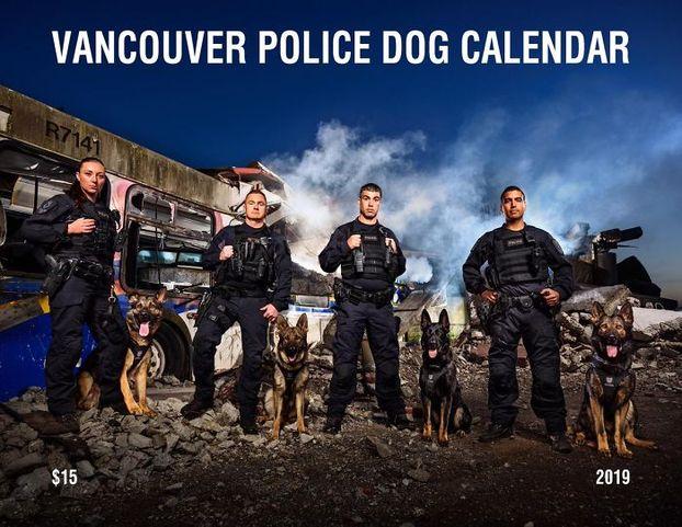 У США поліцейські собаки взяли участь у зйомці для благодійного календаря