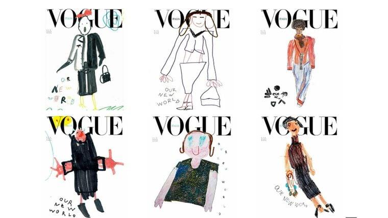 Діти від 2 до 10 років намалювали обкладинки для червневого випуску Vogue